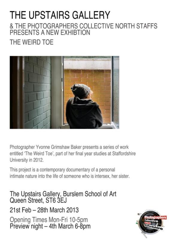 Weird Toe exhibition poster