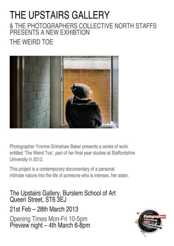 Weird Toe exhibition poster